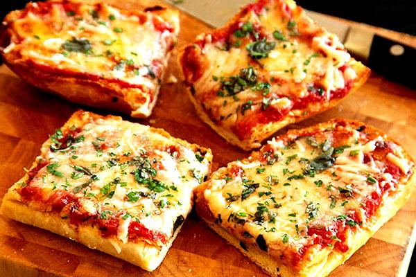 En special Pizza Toast