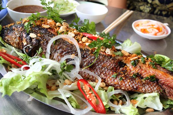 Cá lóc đồng nướng
